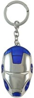 SHAKS TRADERS Shaks Iron Man Blue-white-Silver Metallic Key Chain Key Chain