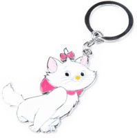 Thinksters White Cat Keychain Carabiner (Multicolors)