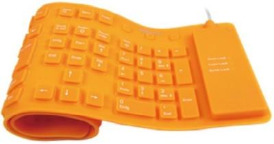 Dragon Foldable Keyboard Wired USB Flexible Keyboard (Orange)