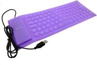 Redeemer Flexo Wired USB Flexible Keyboard (Purpal)