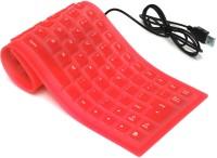 Redeemer Flexo Wired USB Flexible Keyboard (Red)