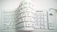 Maxpro A-103 Wired USB Flexible Keyboard (White)