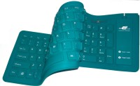 Maxpro A-103 Wired USB Flexible Keyboard (Peacock)