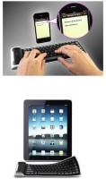 Slaveofvogue Wireless Rubber Silicon Bluetooth Tablet Keyboard (Black)