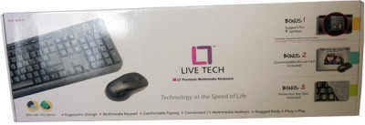 Live Tech Premium USB Wired Keyboard Black