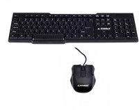 Prodot KB207 Wired USB Keyboard & Mouse Combo (Black)
