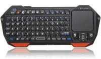 ICam IS11-BT05 Bluetooth, Wired USB Keyboard & Mouse Combo (Black, Orange)