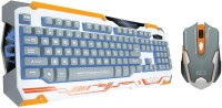 Dragon War X Q3 Gaming Keyboard And Mouse Combo Keyboard (White)