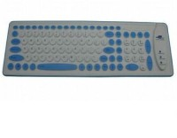 Shrih SH-0086 Wired USB Standard Keyboard (White & Blue)