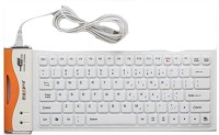 Maxpro 84-bl Wired USB Standard Keyboard (Black, White)