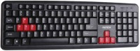 Intex Slim Corona RB USB USB Standard Keyboard (Black & Red)