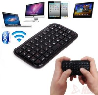 RoQ Mini Wireless Bluetooth Keyboard Keypad For Mobile Phones, Iphones, Ipod, Ipad And Tablets Bluetooth Tablet Keyboard (Black)