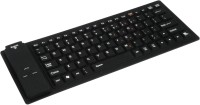 Outre Lightweight Ultra-Slim Portable Flexible Foldable Silent Silicon Wireless Bluetooth Tablet Keyboard (Black)