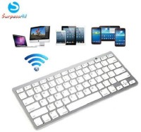 Tuzech Ultrathin Mini Bluetooth Keyboard For All Mobile Phones Bluetooth Virtual Keyboard (White)