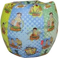 ORKA Chhota Bheem Leatherette S Teardrop Kid Bean Bag (Bead Filling, Color - Multicolor)