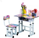 Royal Oak Engineered Wood Study Table (Finish Color - Pink)