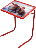 Rvold Cartoon Printed Plastic Study Table (Finish Color - Red)
