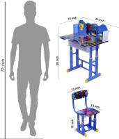 Wood Wizard Engineered Wood Study Table (Finish Color - Blue) - KDTECA42KWHXFBSA