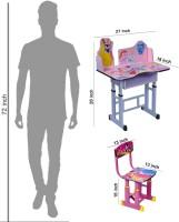 Wood Wizard Engineered Wood Study Table (Finish Color - Pink) - KDTECA42UHTUZGNA