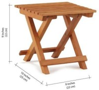 Clasicraft Solid Wood Picnic Table (Finish Color - Natural Brown)
