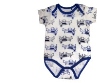 Starsy Romper For Baby Boys & Baby Girls White & Blue