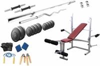 Protoner 75 Kgs & Lifeline Bench Gym & Fitness Kit