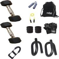 Krazy Fitness Exercise Combo With 2 Pc 3 Kg Hexagonal Dumbbells Gym & Fitness Kit