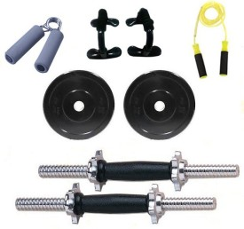 Krazy Fitness 5 Kg Pvc Adjustable Dumbells With Accesories Gym & Fitness Kit