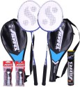 Silver's SB-818 Badminton Kit - 2 Racquets With Cover||1 Box Shuttlecock||2 PVC Grips