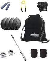 Krazy Fitness 8 Kg MAXX Steel Chrome Home Gym & Fitness Kit