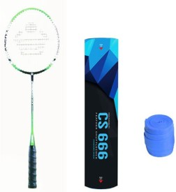 Cosco Cb 555 N With Cs 666 Feather Shuttlecock And Grip Badminton Kit