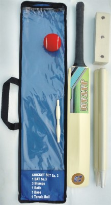 JAYAM SUPER FIRE WING (Size 3 Bat, Stumps, Stand, Bails, Ball With Cover) Poplar Willow Cricket  Bat (3, 1200-1500 g)