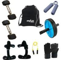 Krazy Fitness Exercise Equipments With 2 Pc. 2.5kg Hexagonal Dumbells Gym & Fitness Kit