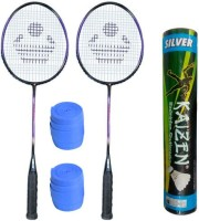 Cosco Cb 110 With Feather Shuttlecock And Grip Badminton Kit