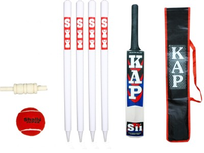 SII CRICKET BAT COMBO PACK Poplar Willow Cricket  Bat (Long Handle, 3500 g)