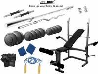 Protoner 90 Kgs & Multy Bench Gym & Fitness Kit