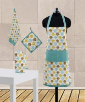 Dekor World Blue Cotton Kitchen Linen Set Pack Of 4