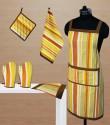 Dekor World Playing With Stripes Kitchen Linen Set - KLSDVYHXA2HNH5XF