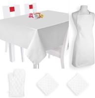 Smart Home Textile Self Design Cotton Kitchen Linen Set Multicolor, Pack Of 5