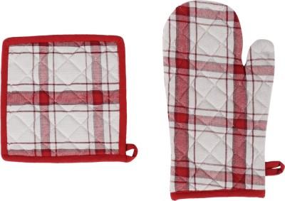 Iris Innovations Chefs Cotton Kitchen Linen Set Maroon, Pack Of 3