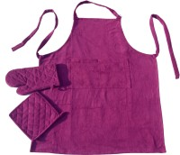 Homeblendz Lavender Cotton Kitchen Linen Set Pack Of 1