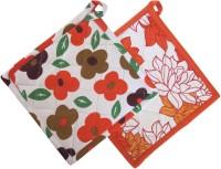 Smart Home Orange, White Cotton Kitchen Linen Set Pack Of 2 - KLSEBGYZDGZERAHB