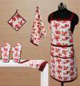 Dekor World World Of Flowers Kitchen Linen Set - KLSDVYHXCFHPVEVX