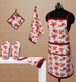Dekor World World Of Flowers Kitchen Linen Set - KLSDVYHXCFHPVEVX