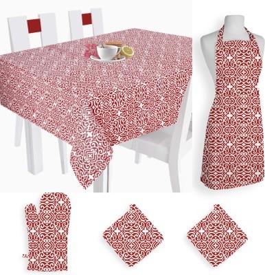 Smart Home Textile Self Design Cotton Kitchen Linen Set Multicolor, Pack Of 5 - KLSE8YSY5H6DKFZS