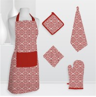 Smart Home Textile Smt Kls Cotton Kitchen Linen Set Red, Pack Of 5 - KLSE6Z8MFCWTMGEU