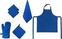 Adt Saral Blue Cotton Kitchen Linen Set Pack Of 6