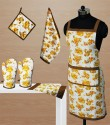Dekor World World Of Flowers Kitchen Linen Set - KLSDVYHXJAFYNHTK