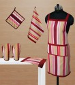 Dekor World Playing With Stripes Kitchen Linen Set - KLSDWMU9CJPWZMFQ