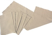 Homeblendz Grey, White Cotton Kitchen Linen Set Pack Of 7